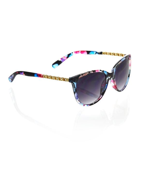Multi Coloured Wayfarer Sunglasses, Multi, hi-res