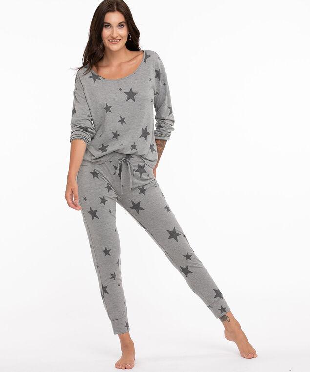 Starry Super Soft Jogger Pyjama Set, Grey Stars