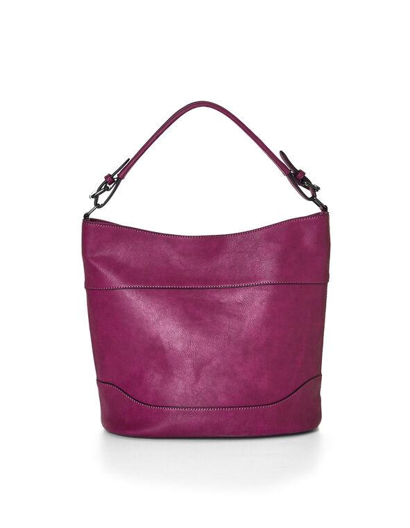 Sangria Slouchy Bucket Handbag, Sangria, hi-res