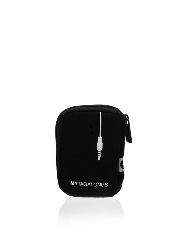 Black Ear Bud Case, Black, hi-res