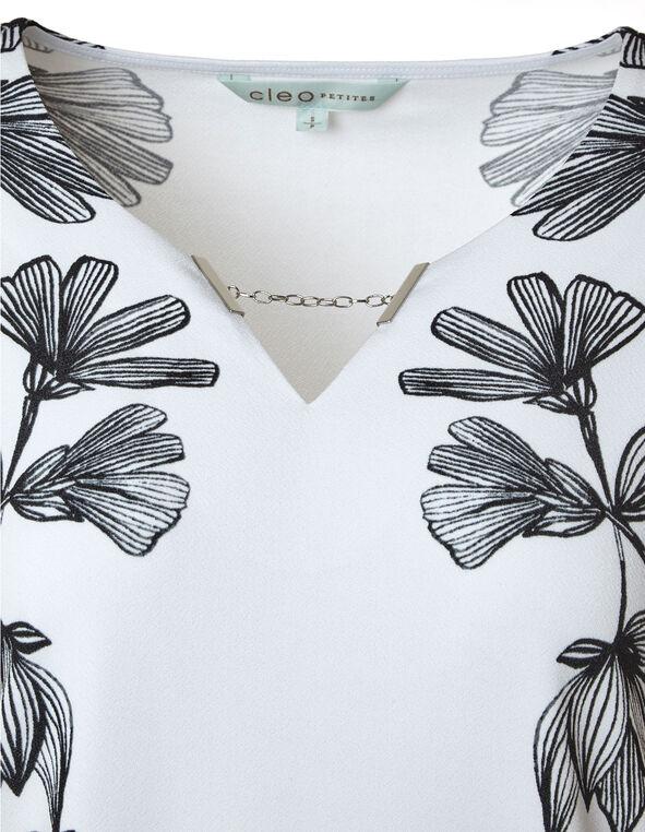 Chain Detail White Top, White, hi-res