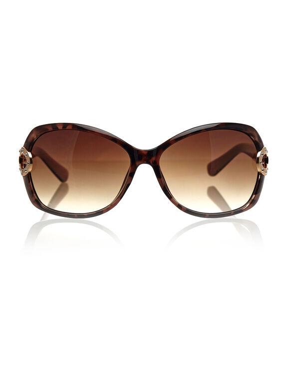 Pink Tort Circular Sunglasses, Brown/Pink, hi-res