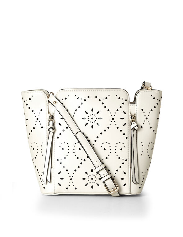 Stone Laser Cut Lady Bag, Stone, hi-res