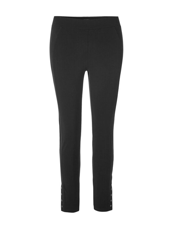 Black Long Snap Legging, Black, hi-res