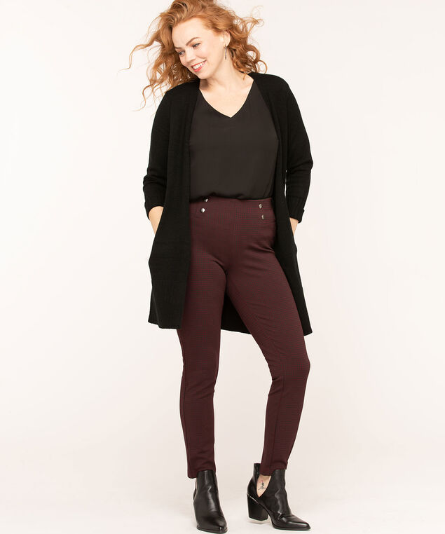 Long Cozy Open Cardigan, Black, hi-res