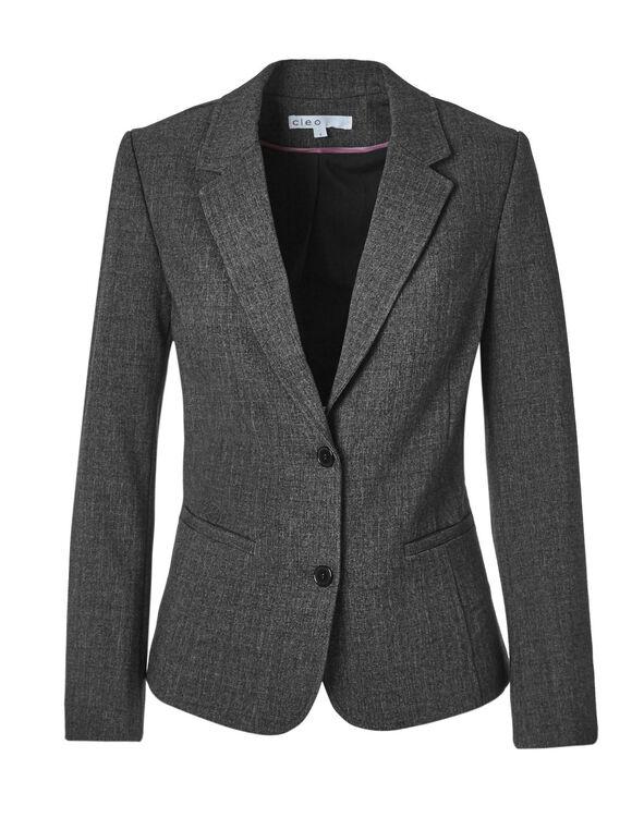 Charcoal Suiting Blazer, Charcoal, hi-res
