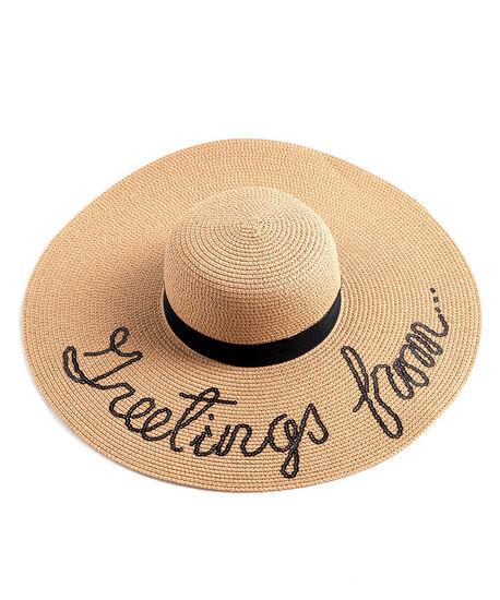 Wide Brim Floppy Hat, Natural, hi-res