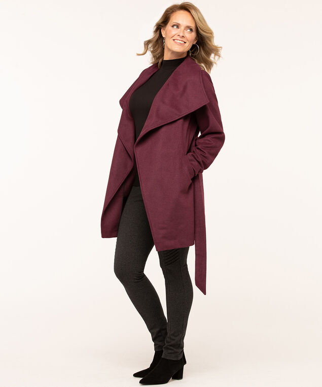 Mulberry Wrap Coat, Mulberry, hi-res