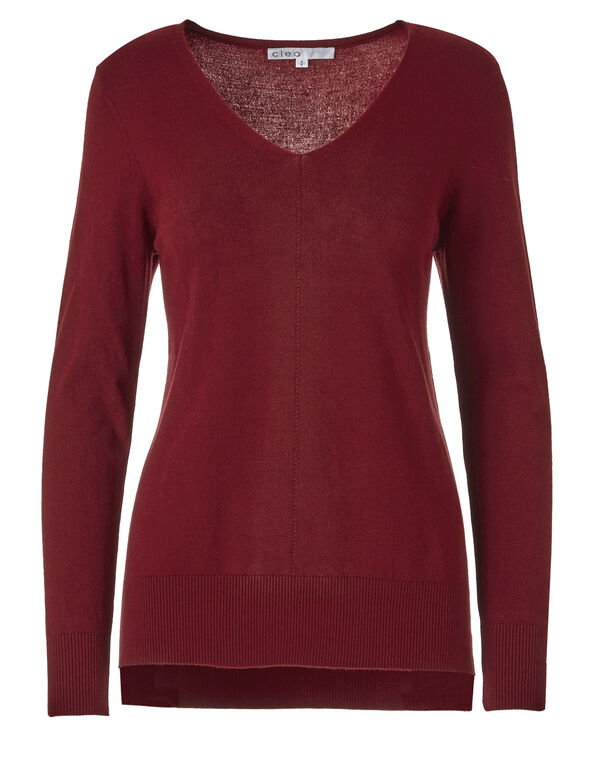 Red Pullover Sweater, Red, hi-res