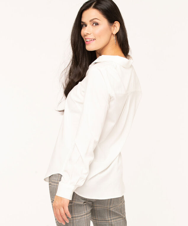 Collared Button Front Blouse, Ivory