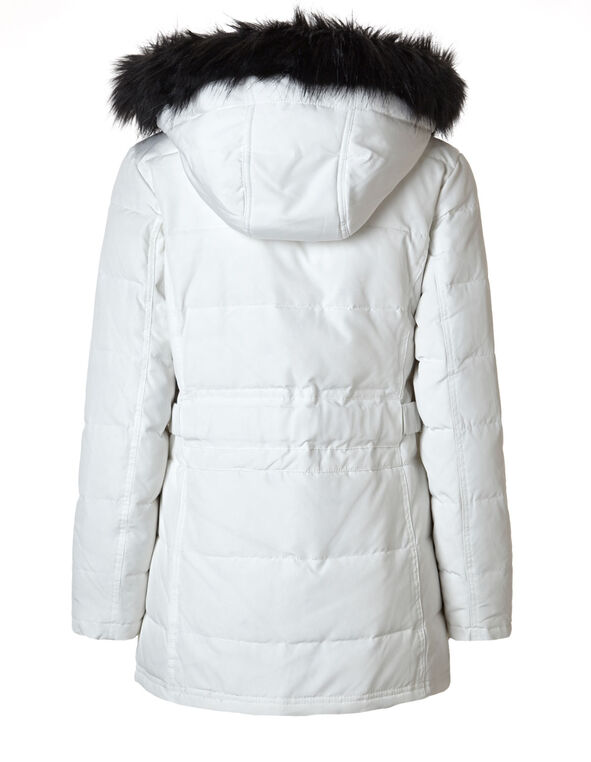Ivory 50/50 Down Coat, Ivory, hi-res