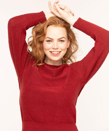Ruby Raglan Sleeve Sweater, Ruby Red Mix, hi-res