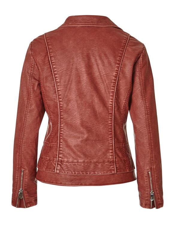 Chili Notch Faux Leather Jacket, Chili, hi-res