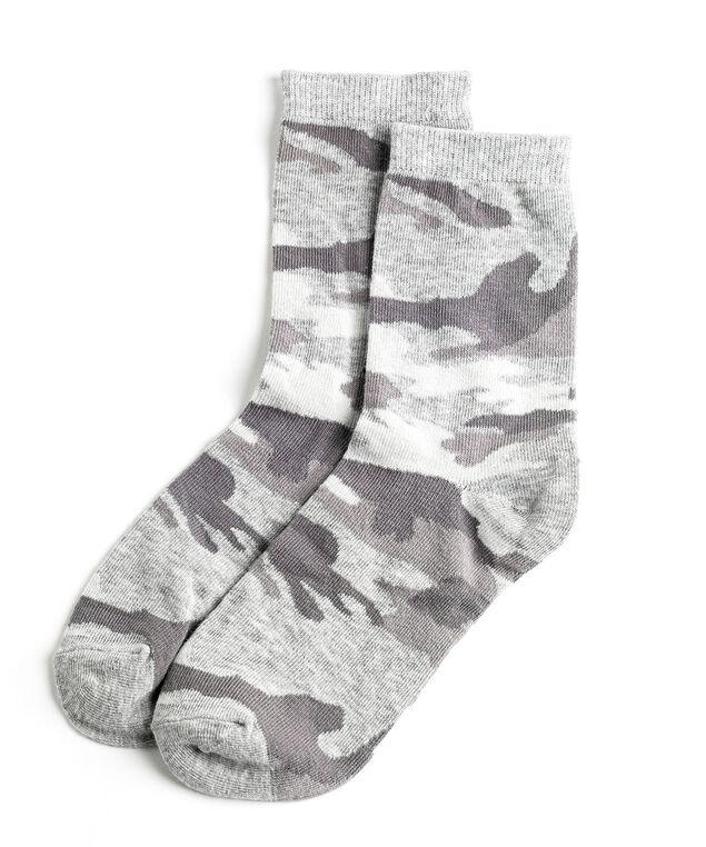 Grey Camo Crew Sock, Grey Camo