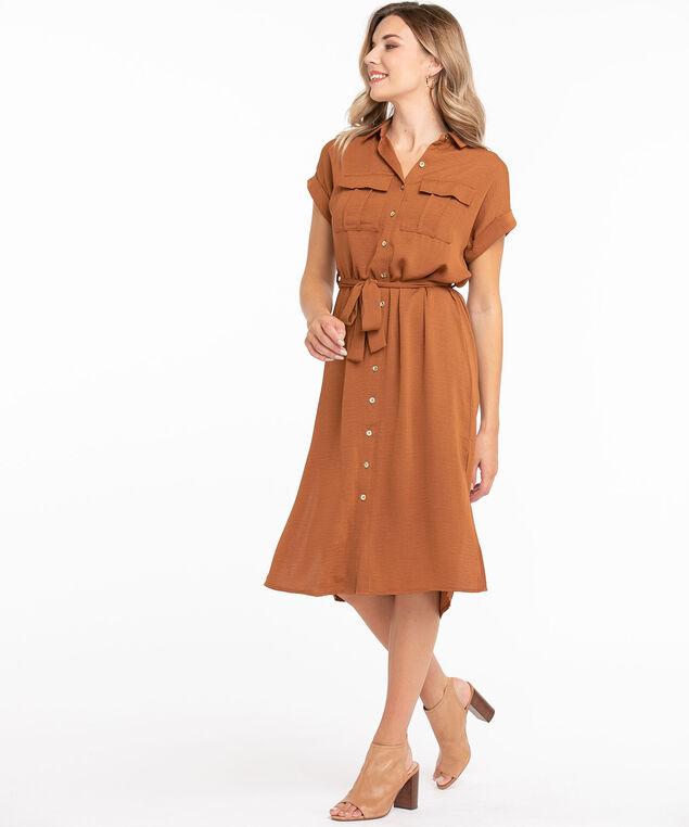 Tie Waist Safari Dress, Cider