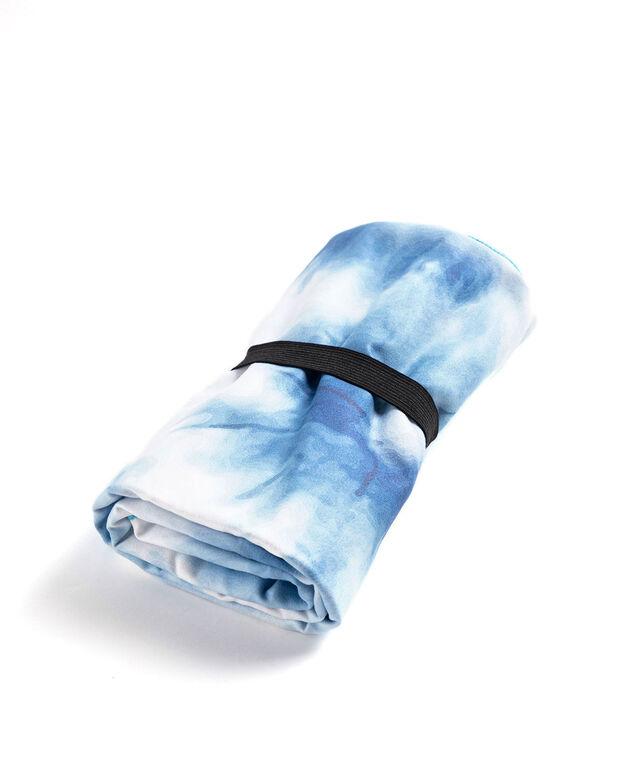 Microfibre Quick Dry Towel, Blue/White Tie-Dye