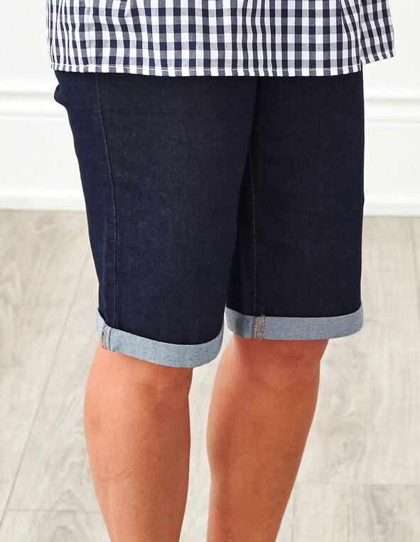 Dark Wash Denim Short, Dark Wash, hi-res