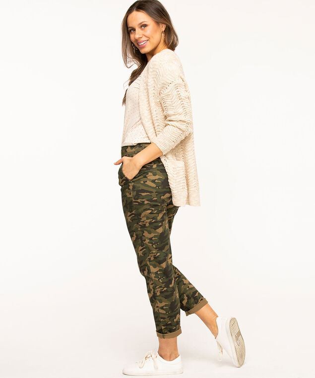 Slim Chino Ankle Pant, Olive Camo