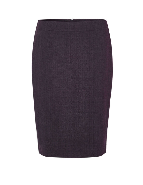 Deep Plum Suiting Skirt, Deep Plum, hi-res
