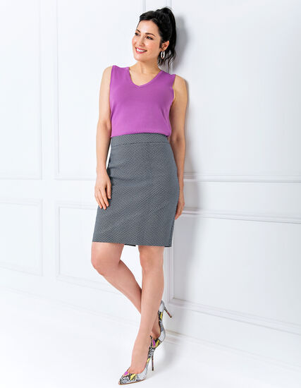 Geo Pencil Skirt Look, , hi-res