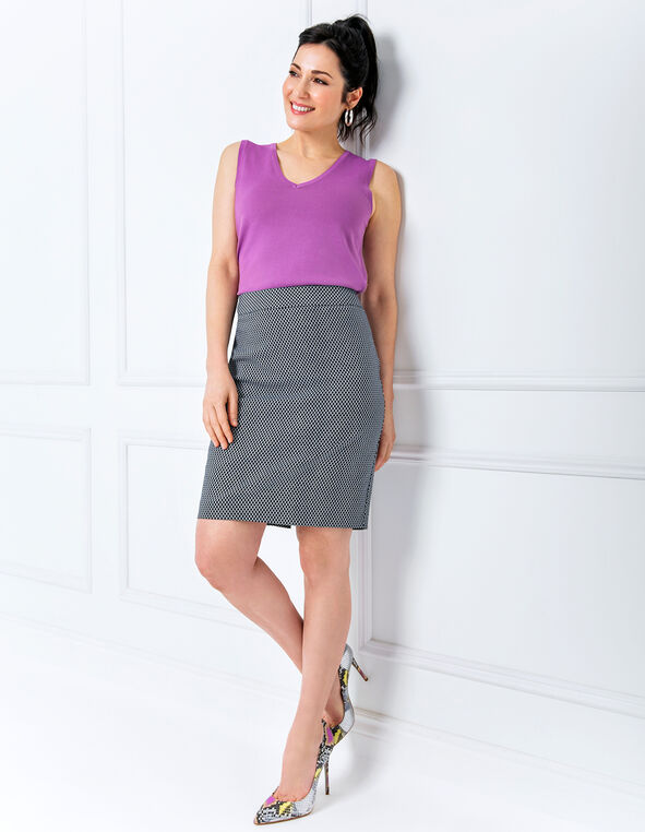 Geo Pencil Skirt Look, , hi-res