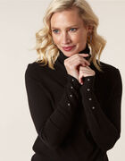 Black Essential Turtleneck Sweater, Black, hi-res