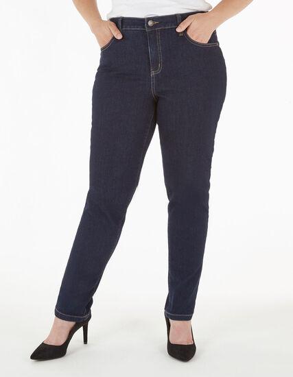 Dark Wash Curvy Slim Leg Jean, Dark Wash, hi-res