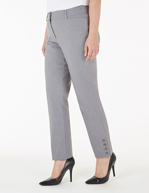 Grey Slim Leg Ankle Pant, Light Grey, hi-res