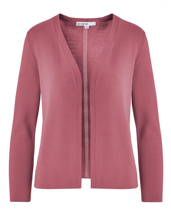 Rose Crepe Cardigan, Rose, hi-res