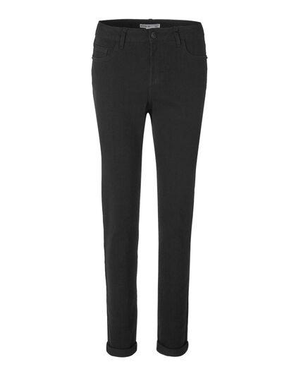 Black Curvy 5 Pocket Jean, Black, hi-res