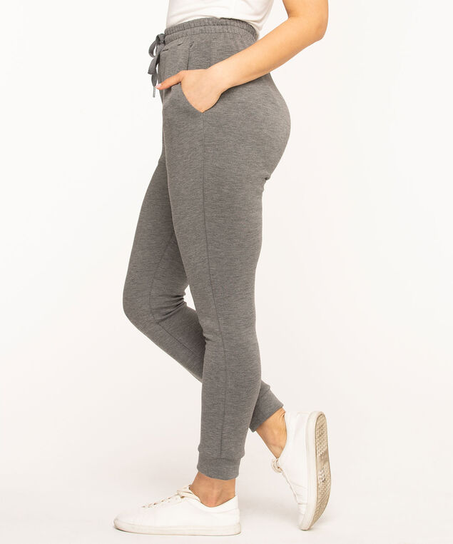 Pull On Jogger Ankle Pant, Grey