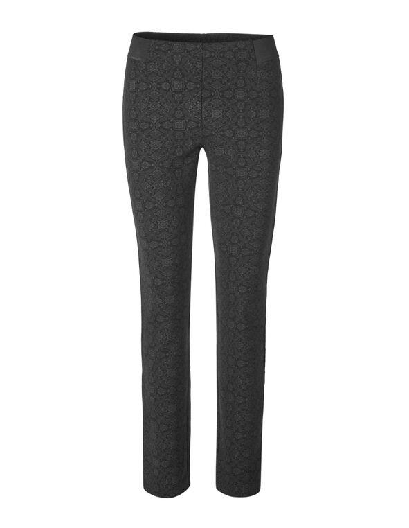 Black Printed Pullon Legging, Black, hi-res
