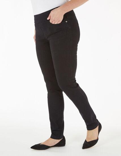 Black Pull On Jean, Black, hi-res