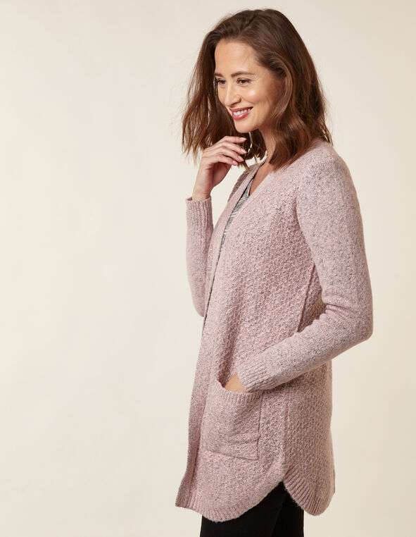 Blush Textured Cardigan, Pink, hi-res