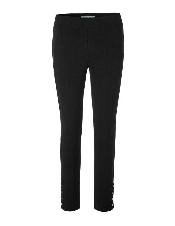 Black Snap Decal Legging, Black, hi-res