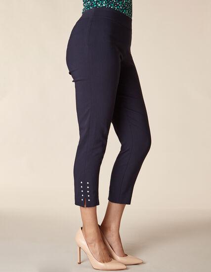 Navy Slim Ankle Pant, Navy, hi-res