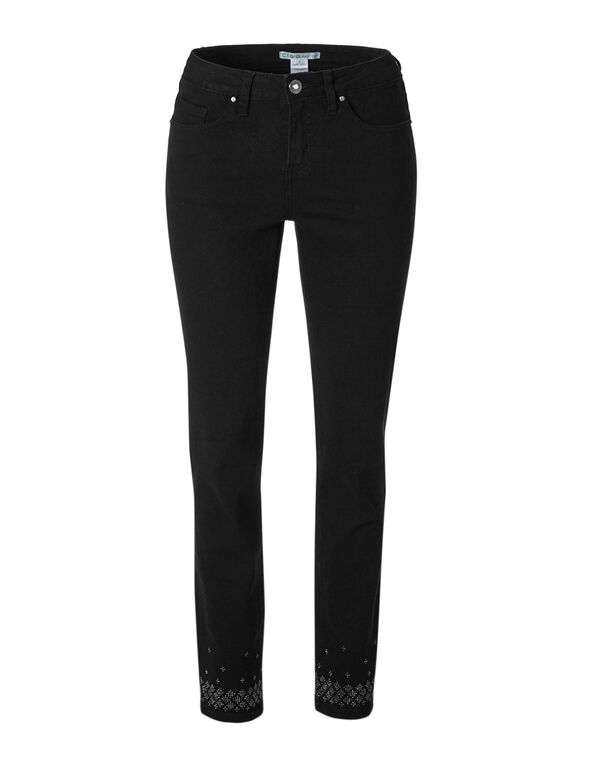 Black Bling Slim Jean, Black, hi-res