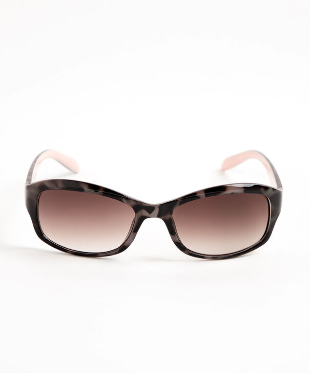 Tortoise Shell Sunglasses, Brown/Pink