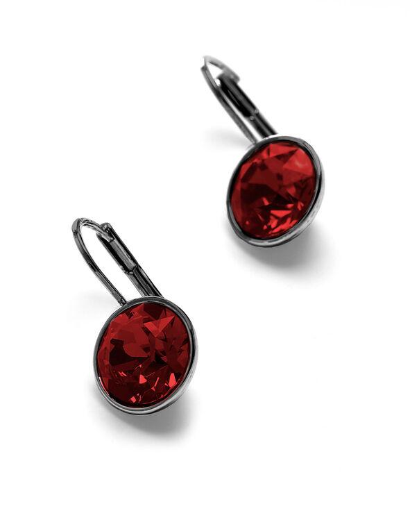 Siam Genuine Crystal Earring, Red, hi-res