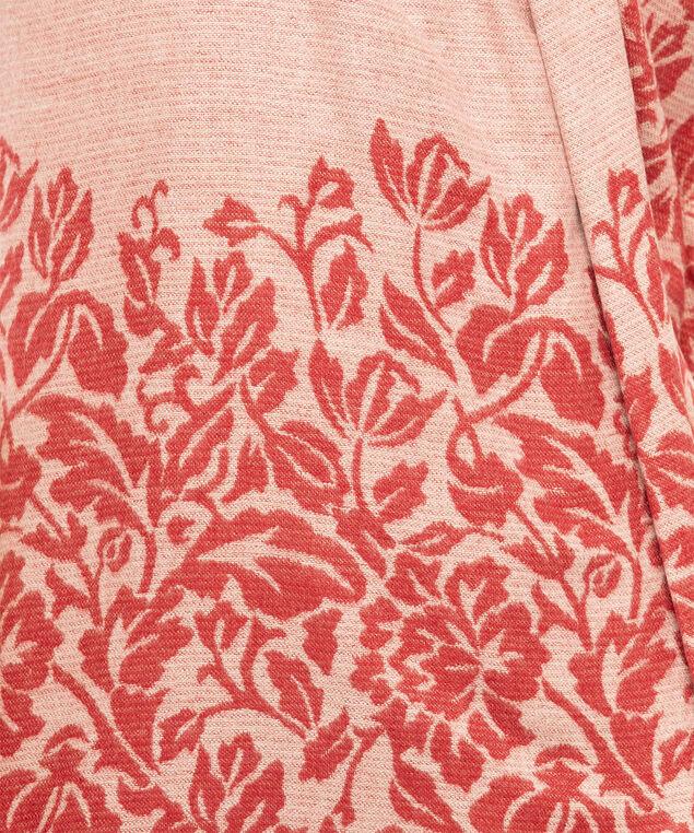 Floral Border Oblong Scarf, Ruby Mix, hi-res