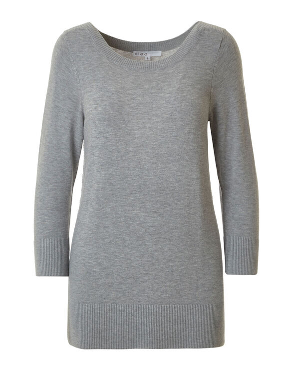 Grey Essential Sweater, Grey, hi-res
