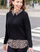 Black Leopard Fooler Sweater, Black, hi-res