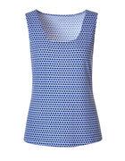 Blue Printed Essential Layering Top, Blue, hi-res