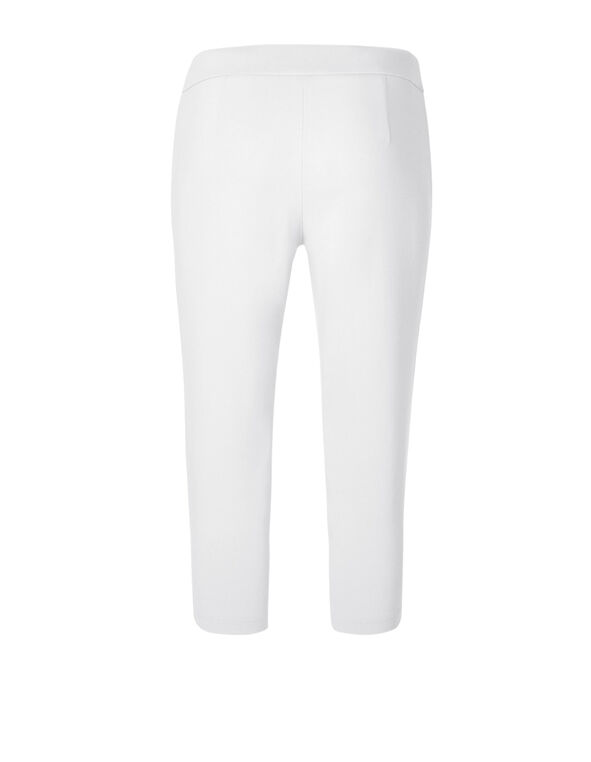 White Capri Pull On Pant, White, hi-res
