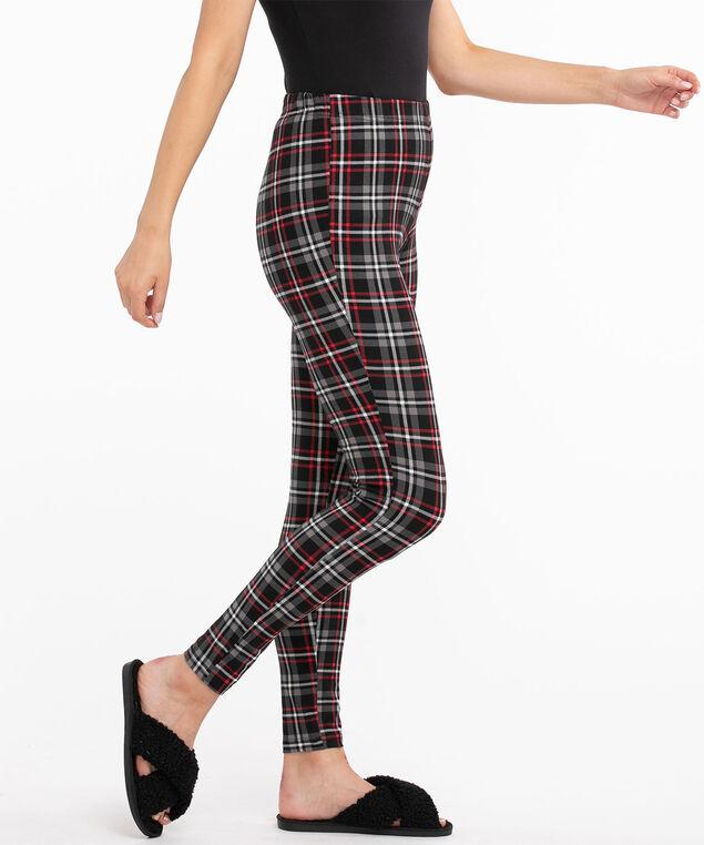 Patterned Legging, Black Plaid