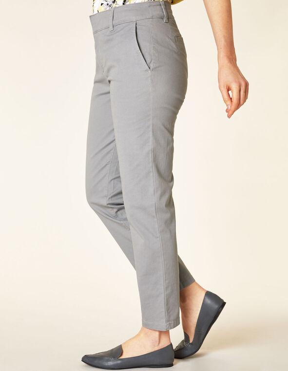 Light Grey Chino Slim Ankle Pant, Grey, hi-res