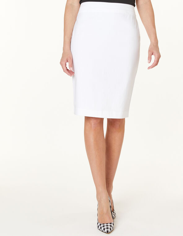 White Pencil Skirt, White