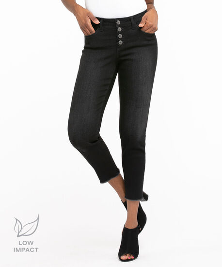 Black Low Impact Ankle Jean, Black, hi-res