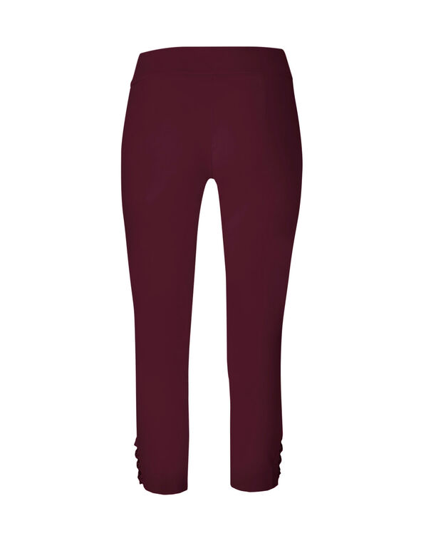 Wine Ankle Pull On Pant, Wine, hi-res