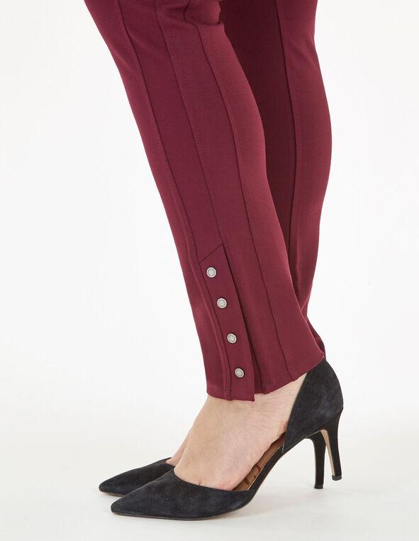 Merlot Snap Bottom Legging, Wine, hi-res
